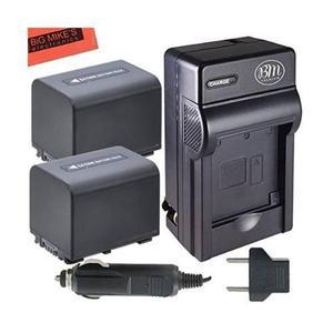 Bm Pack Premium De 2 Baterías Np-fv70 Y Kit De Cargador