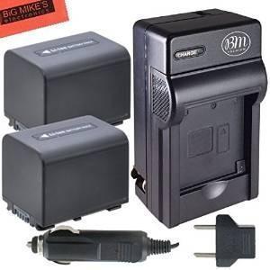 Bm Premium Pack De 2 Np-fv70 Baterías Y Kit De Cargador