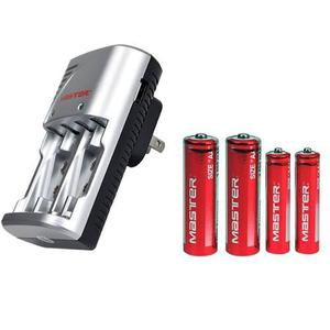 Cargador De Batería Aa Y Aaa Y Con Puerto Usb Universal