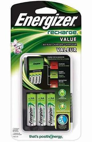 Cargador Y 4 Baterias Energizer Aa Recargables Pp