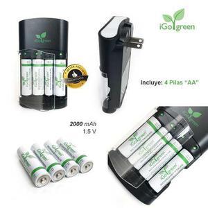 Kit Baterias Recargables Aa + Cargador Sony Super Delgado