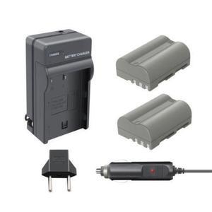 Kit De Batería + Cargador 2pcs En-el3e Para Nikon D90