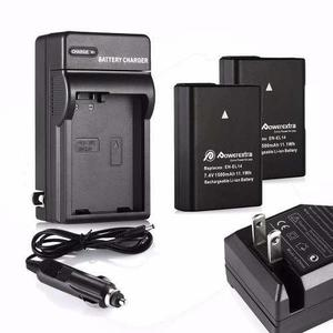 Kit De Cargador Y 2 Baterias En-el14 Para Nikon D5100 D3300