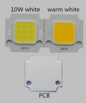 Led Cob 10w 9vdc-10vdc 6500k Base Aluminio.