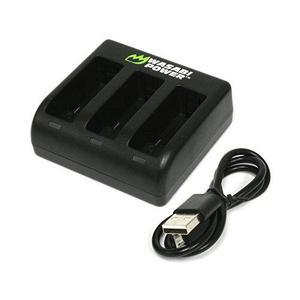 Wasabi Triple De Energía Del Cargador De Batería Para