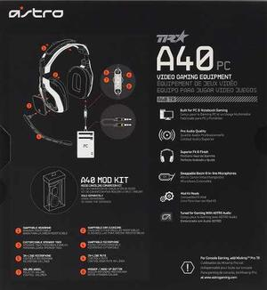 Astro Gaming A40 Tr Gaming Headset - Blanco - Xbox One, Ps4,