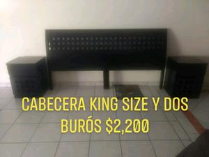 Cabecera King Size y dos burós