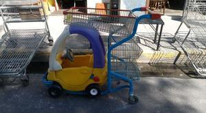 Carrito para despensa, con carrito para bebé.