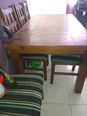 Comedor 6 sillas madera