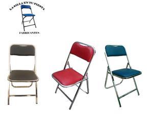 Fabricamos sillas y mesas plegables de uso rudo para eventos