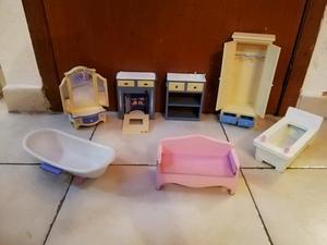 Muebles para muñecas casa de muñecas barbie