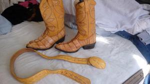 Vendo botas de piel de coco drilo originales de leon