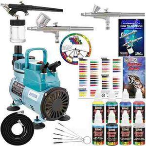 3 Kit De Aerografo Con 6 Colores De Aerografo Y Primario De