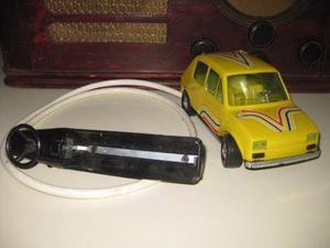 Antiguo Carro De Control Remoto Alambrico Fiat 126 Funciona