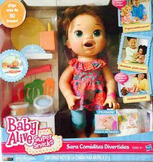 Baby Alive Sara Comiditas Divertidas Castaña