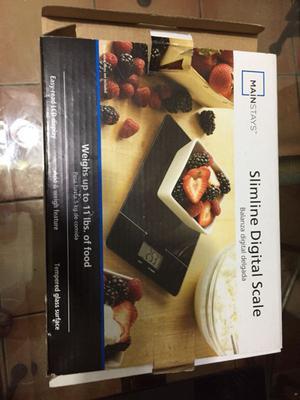 Báscula digital para alimentos