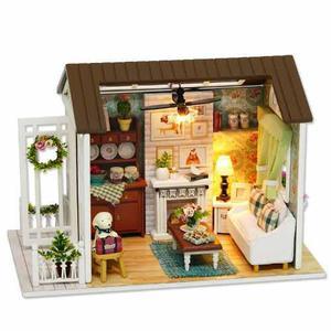 Casa De Muñecas De Bricolaje En Miniatura, Montaje De Muebl