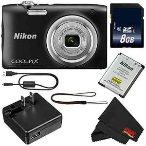 Cámara Digital Nikon Coolpix A100 (negro) Tarjeta Sd 8gb