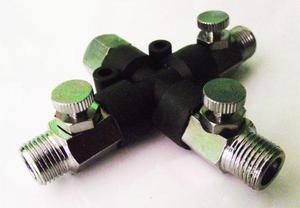 Conector 1/8 Multiple Para Aerografo