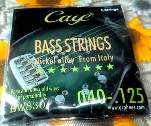 Cuerdas Para Bajo 5 Cuerdas Orphee Caye Italia Dhl Gratis