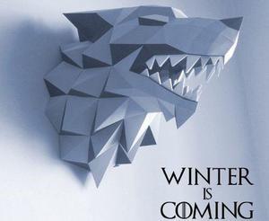 Game-of-thrones Wolf Papercraft Pepakura 3d