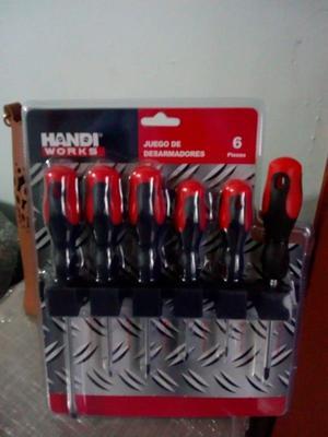 Juego de desarmadores 6 pzs Handi Works