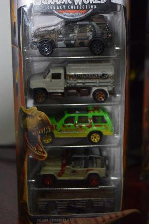 Jurassic World Matchbox Set De 5 Legacy Collection Nuevo