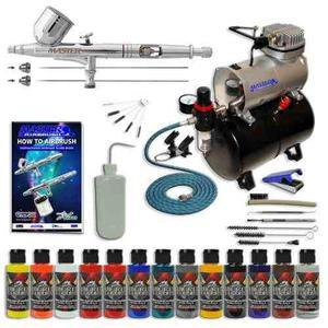 Kit De Aerografo Master Performance G233 Con 3 Puntas Y Comp
