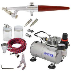 Paasche H Airbrush Set W/quiet Air Brush Compressor