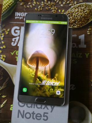 SAMSUNG GALAXY NOTE 5 32GB DORADO COMO NUEVO TELCEL EN CAJA