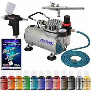 Super Deluxe Master Airbrush Twin 2 Aerografo Cake Decorat
