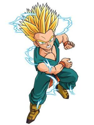 Trunks Niño Ssj De 35 Cm De Dragon Ball Z (papercraft)