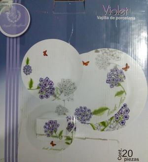 Vajilla de porcelana Royal Brattford 20 piezas