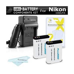 2 Batería Y El Cargador Kit Para Nikon Coolpix P900, P610,
