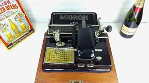 Antigua Máquina De Escribir Mignon Alemana Colección