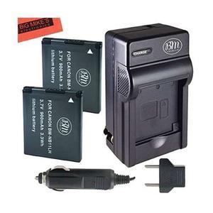Bm Premium 2 Pack De Nb-11l, Baterías Nb-11lh Y Kit