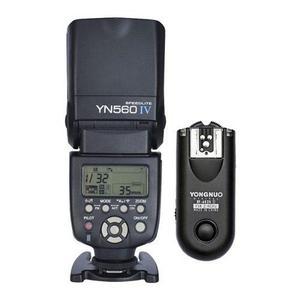 Flash Yongnuo 560 Iv Y Disparador Rf 603 Para Nikon