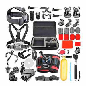 Kit 42 Accesorios Go Pro Completo * Incluye Estuche* Y Envio