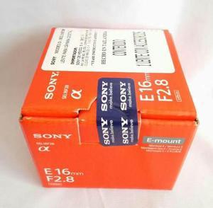 Lente Sony Angular 16mm F2.8 Montura E, Nuevo