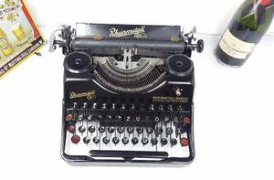 Maquina De Escribir Antigua Alemana Rheinm Colección