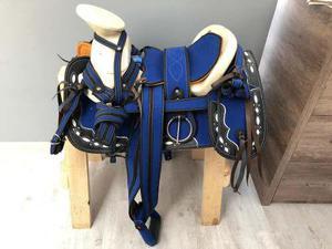 Montura Para Caballo O Silla Charra Azul Rey