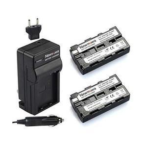 Newmowa Np-f550 De La Batería (2-pack) Y El Kit De Cargador