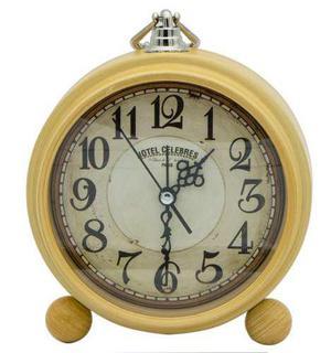 Retro Vintage Reloj Despertador Metal - Wooden 3306-2