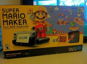 Nintendo Wii U 32gb Super Mario Maker Deluxe Set