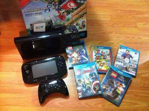 Wii U Mario Kart 8 Deluxe 5 Videojuegos + Control Original