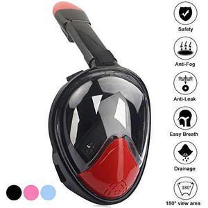 Kekilo 180 ° Máscara De Snorkel De Cara Completa Easy