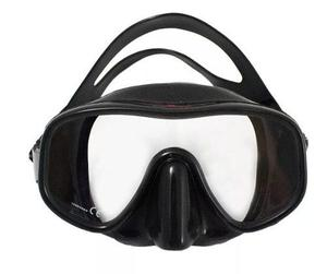 Mascara Visor Modelo Ares Bonassi Buceo Y Apnea - Negro