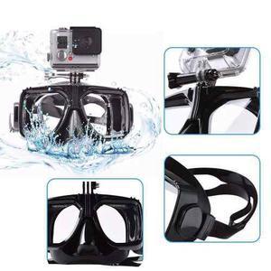 Máscara De Buceo Visor Snorkel Para Gopro Hero 2,3,4 Y Más