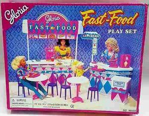 Mueble Para Casa De Muñeca Barbie Comida Rapida  Full