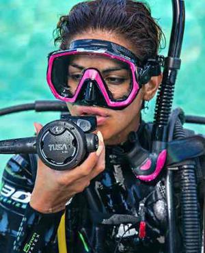 Set Combo Visor Tusa Freedom Elite Y Snorkel Platina 2